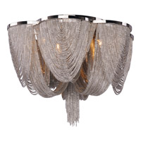 Maxim Lighting Chantilly 6 Light Flush Mount in Polished Nickel 21460NKPN