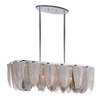 Chantilly 7 Light 39 inch Polished Nickel Island Pendant Ceiling Light