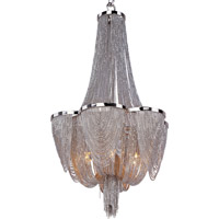 Chantilly 6 Light 14 inch Polished Nickel Single Tier Chandelier Ceiling Light