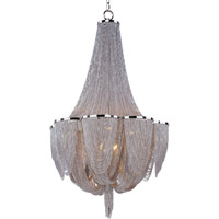 Maxim Lighting Chantilly 10 Light Single Tier Chandelier in Polished Nickel 21465NKPN