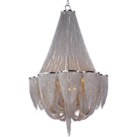 Maxim Lighting Chantilly 12 Light Single Tier Chandelier in Polished Nickel 21466NKPN