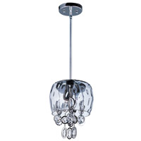 Ripple 3 Light 8 inch Polished Nickel Mini Pendant Ceiling Light