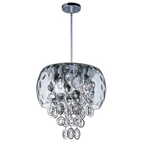 Ripple 6 Light 15 inch Polished Nickel Single Pendant Ceiling Light