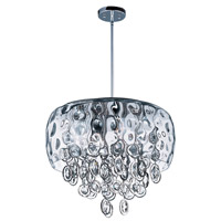 Ripple 10 Light 19 inch Polished Nickel Single Pendant Ceiling Light