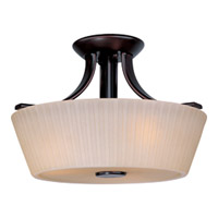 Maxim Lighting Finesse 3 Light Semi Flush Mount in Oil Rubbed Bronze 21501DWOI