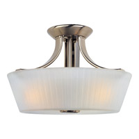 Finesse 3 Light 13 inch Satin Nickel Semi Flush Mount Ceiling Light
