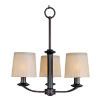 Maxim 21504DWOI Finesse 3 Light 19 inch Oil Rubbed Bronze Mini Chandelier Ceiling Light