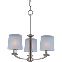 Maxim Lighting Finesse 3 Light Mini Chandelier in Satin Nickel 21504FTSN