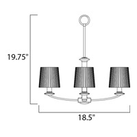 Maxim 21504FTSN Finesse 3 Light 19 inch Satin Nickel Mini Chandelier Ceiling Light alternative photo thumbnail