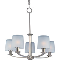 Maxim 21505FTSN Finesse 5 Light 26 inch Satin Nickel Multi-Tier Chandelier Ceiling Light
