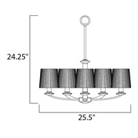 Maxim Lighting Finesse 5 Light Multi-Tier Chandelier in Oil Rubbed Bronze 21505DWOI alternative photo thumbnail