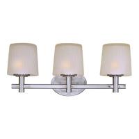 Maxim Lighting Finesse 3 Light Bath Light in Satin Nickel 21513FTSN