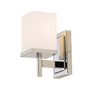 Maxim 2151SWPC Tetra 1 Light 5 inch Polished Chrome Bath Vanity Wall Light