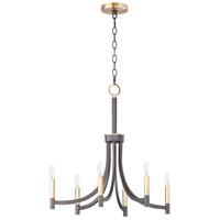 Maxim 21526BZAB Lyndon 6 Light 28 inch Bronze and Antique Brass Chandelier Ceiling Light