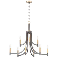 Maxim 21529BZAB Lyndon 9 Light 32 inch Bronze and Antique Brass Chandelier Ceiling Light