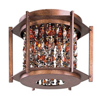 Maxim 21570CT Trinket 3 Light 14 inch Chestnut Flush Mount Ceiling Light