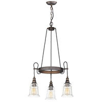 Maxim 21573HMOI Revival 3 Light 23 inch Oil Rubbed Bronze Chandelier Ceiling Light