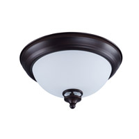 Novus 1 Light 11 inch Oil Rubbed Bronze Flush Mount Ceiling Light