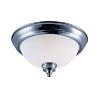 Novus 1 Light 11 inch Polished Chrome Flush Mount Ceiling Light