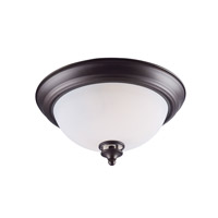 Maxim 21581SWOI Novus 2 Light 13 inch Oil Rubbed Bronze Flush Mount Ceiling Light in Satin White