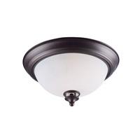 Maxim 21581SWOI Novus 2 Light 13 inch Oil Rubbed Bronze Flush Mount Ceiling Light in Satin White