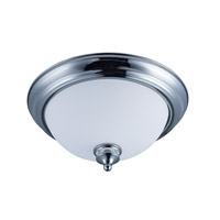 Maxim 21581SWPC Novus 2 Light 13 inch Polished Chrome Flush Mount Ceiling Light in Opal Glass