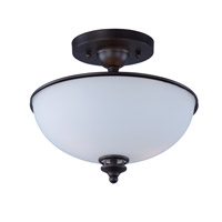 Novus 2 Light 11 inch Oil Rubbed Bronze Semi-Flush Mount Ceiling Light
