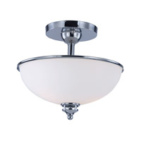 Novus 2 Light 11 inch Polished Chrome Semi-Flush Mount Ceiling Light