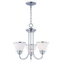 Maxim 21584SWPC Novus 3 Light 18 inch Polished Chrome Chandelier Ceiling Light