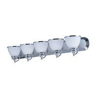 Maxim 21595SWPC Novus 5 Light 36 inch Polished Chrome Vanity Light Wall Light