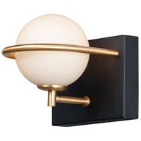 Maxim 21601SWBKGLD Revolve LED 6 inch Black and Gold Bath Vanity Wall Light