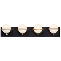 Maxim 21604SWBKGLD Revolve LED 27 inch Black and Gold Bath Vanity Wall Light