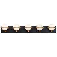 Maxim 21605SWBKGLD Revolve LED 34 inch Black and Gold Bath Vanity Wall Light