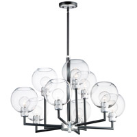 Brushed Aluminum Glass Chandeliers