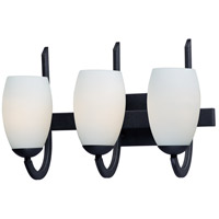 Maxim Black Glass Bathroom Vanity Lights