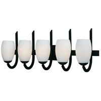 Maxim 21645SWTXB Taylor 5 Light 32 inch Textured Black Bath Vanity Wall Light