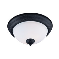 Taylor 2 Light 11 inch Textured Black Flush Mount Ceiling Light