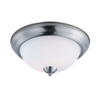 Taylor 2 Light 13 inch Satin Nickel Flush Mount Ceiling Light