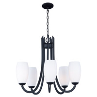 Maxim 21655SWTXB Taylor 5 Light 28 inch Textured Black Chandelier Ceiling Light