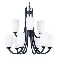 Maxim 21657SWTXB Taylor 9 Light 32 inch Textured Black Chandelier Ceiling Light