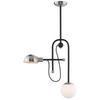 Maxim 21664WTBKSN Mingle LED 6 inch Black and Satin Nickel Single Pendant Ceiling Light