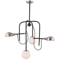 Maxim 21666WTBKSN Mingle LED LED 21 inch Black and Satin Nickel Chandelier Ceiling Light