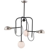 Maxim 21666WTBKSN Mingle LED 21 inch Black and Satin Nickel Chandelier Ceiling Light