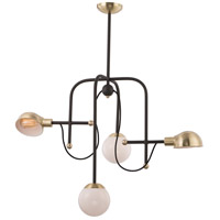 Maxim 21666WTBZSBR Mingle LED LED 21 inch Bronze and Satin Brass Chandelier Ceiling Light