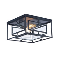 Era 2 Light 16 inch Black Flush Mount Ceiling Light