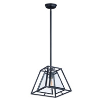 Era 1 Light 12 inch Black Single Pendant Ceiling Light