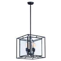 Era 4 Light 16 inch Black Multi-Light Pendant Ceiling Light
