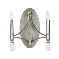 Regal 2 Light 13 inch Silver Gold Wall Sconce Wall Light in Without Shade