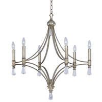 Regal 6 Light 30 inch Silver Gold Chandelier Ceiling Light