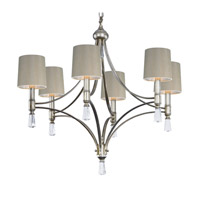 Regal 6 Light 35 inch Silver Gold Chandelier Ceiling Light